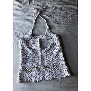 SURF GYPSY crochet halter cover up beach tank top